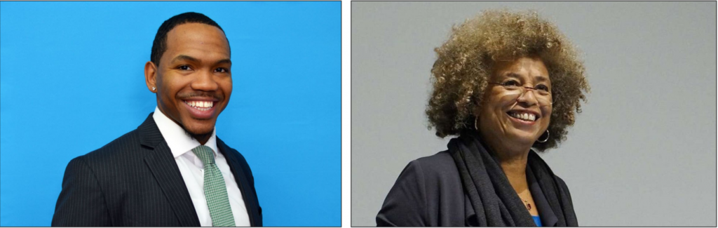 Princial Jarell Lee and MPR host Angela Davis